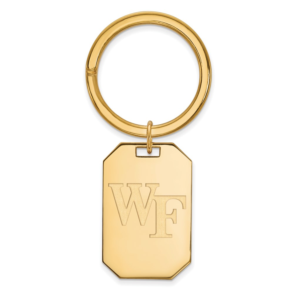 NCAA 14k Gold Plated Silver Wake Forest U Key Chain