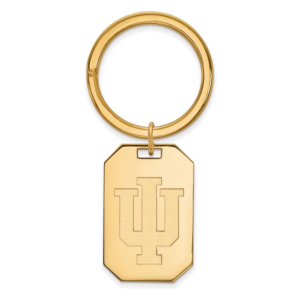 NCAA 14k Gold Plated Silver Indiana U Key Chain