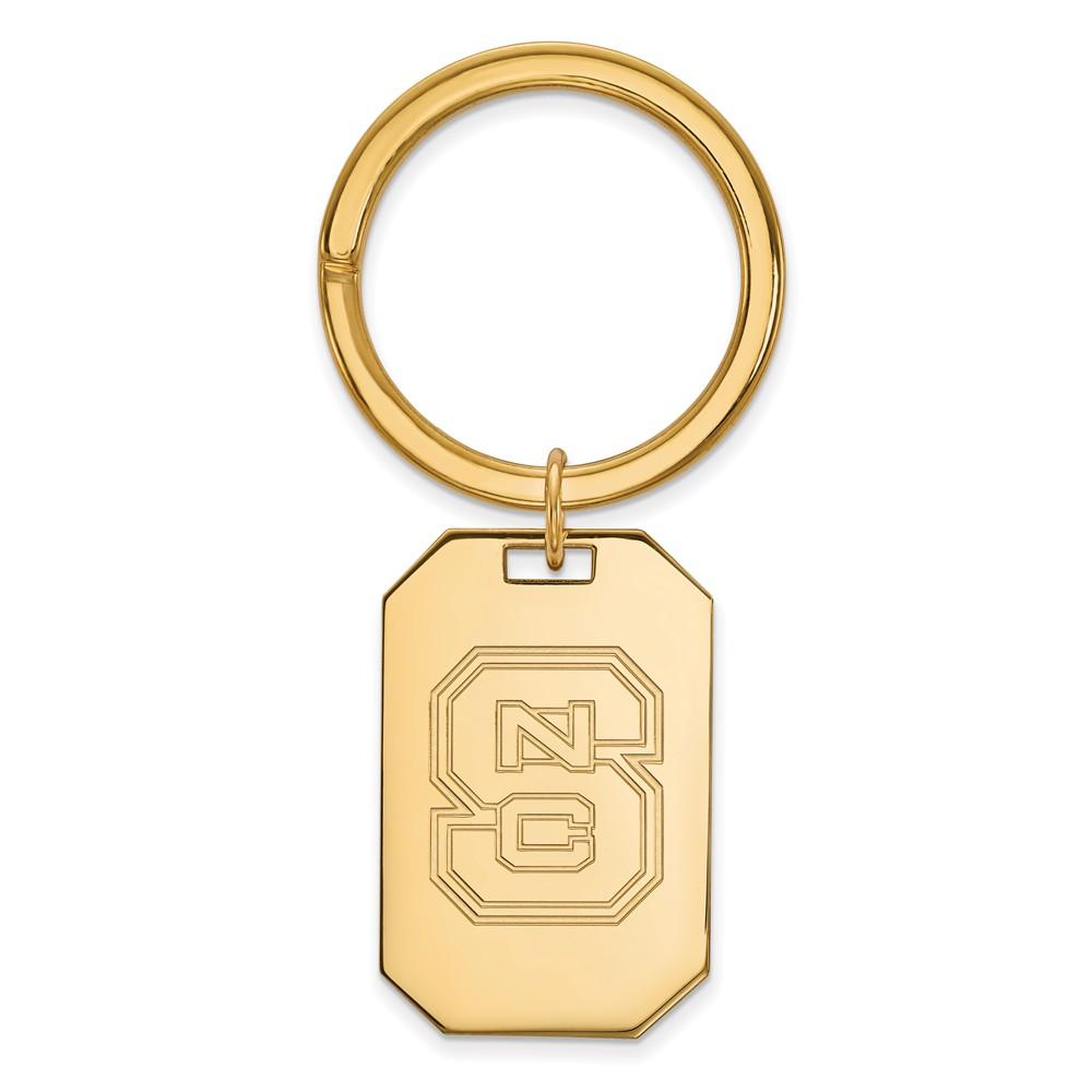 NCAA 14k Gold Plated Silver North Carolina State Logo Key Chain