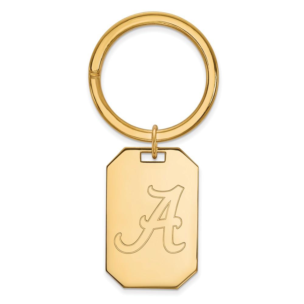 NCAA 14k Gold Plated Silver U of Alabama Key Chain