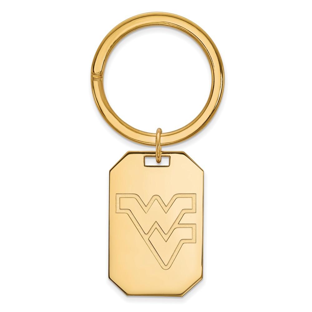 NCAA 14k Gold Plated Silver West Virginia U Key Chain