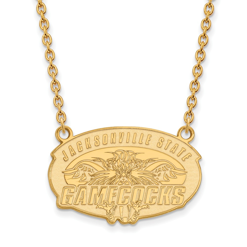 Jacksonville | Necklace | Pendant | Yellow | Large | State | NCAA | Gold