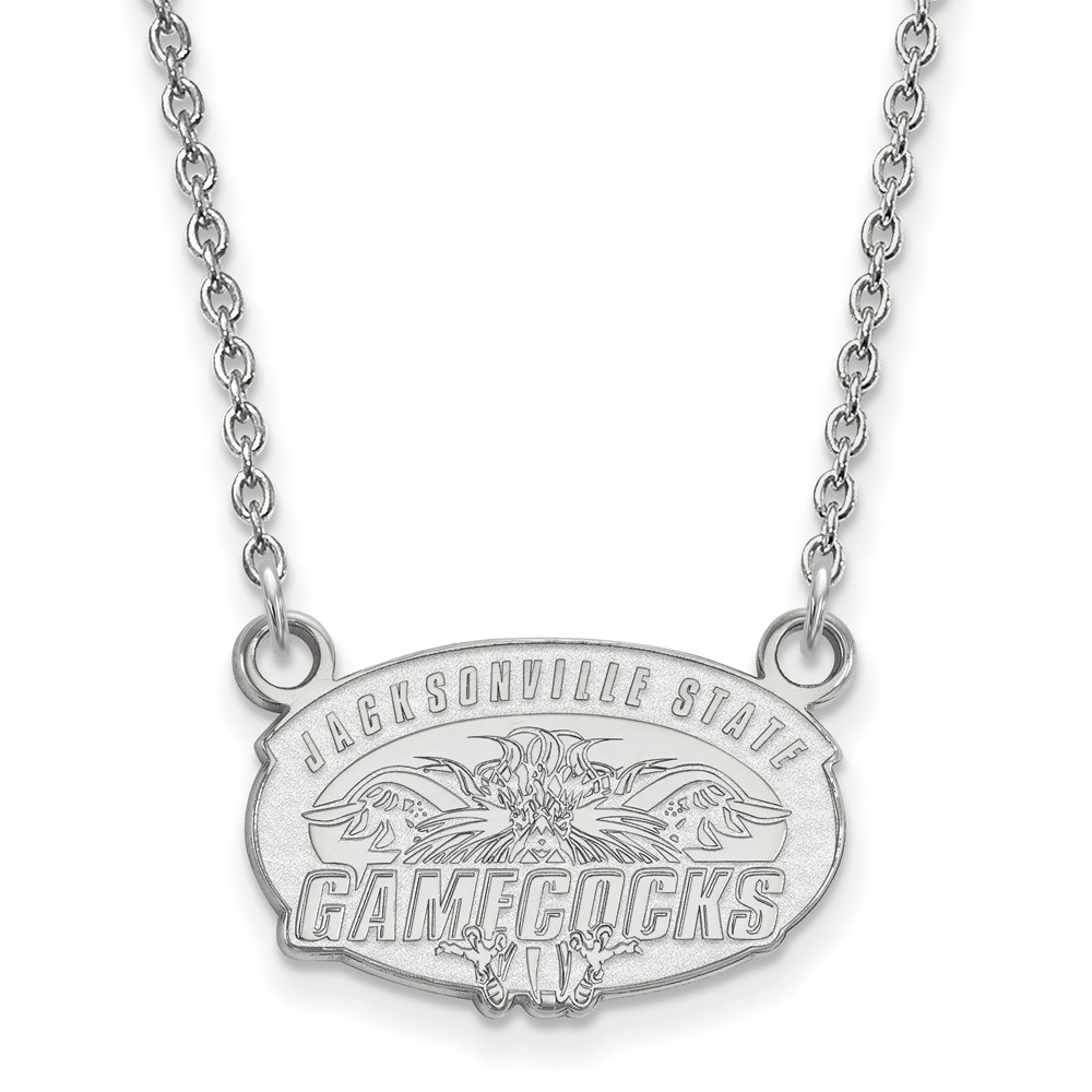 Jacksonville   Necklace   Pendant   Small   State   White   NCAA   Gold   10K