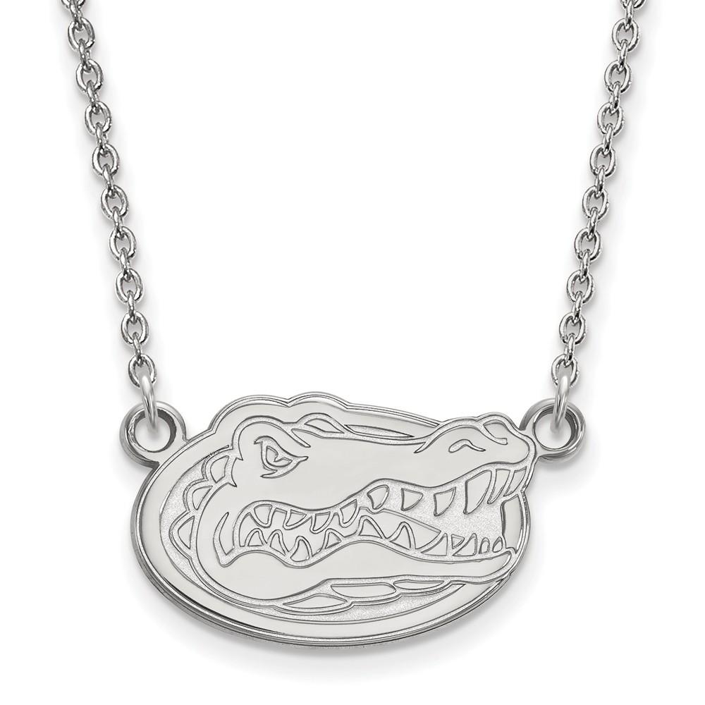 Necklace | Florida | Pendant | Gator | Small | White | Disc | NCAA | Gold | 10K