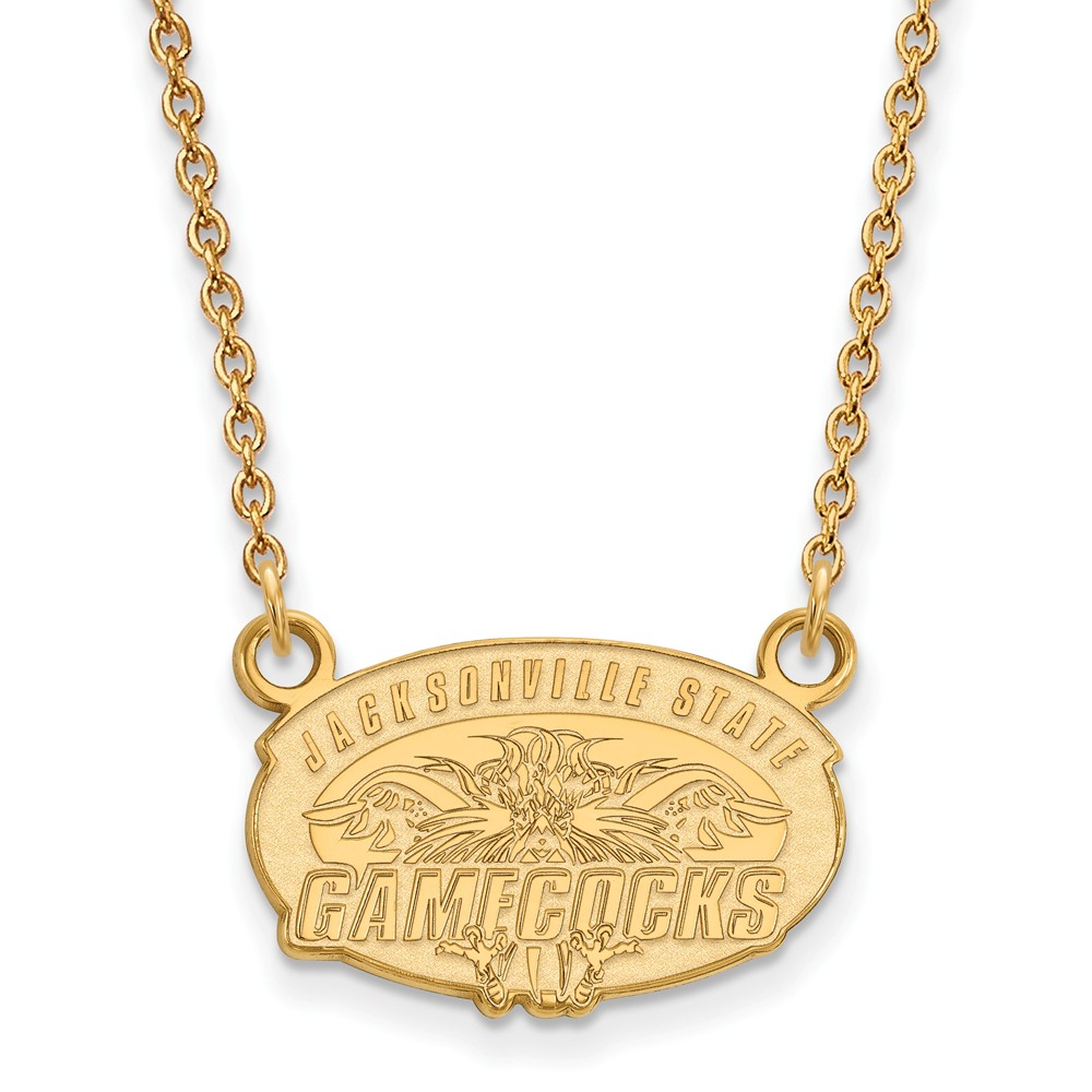 Jacksonville | Necklace | Pendant | Yellow | Small | State | NCAA | Gold