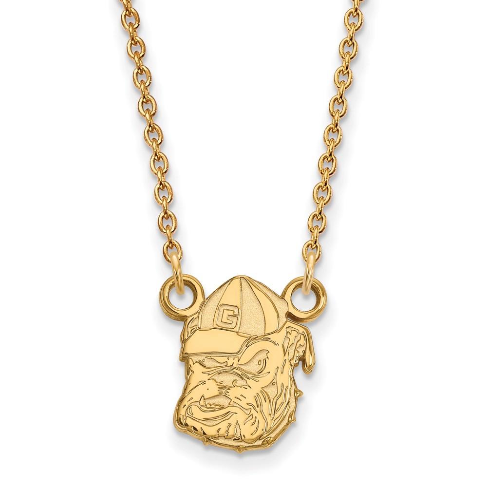 Necklace | Bulldog | Georgia | Pendant | Yellow | Small | NCAA | Gold