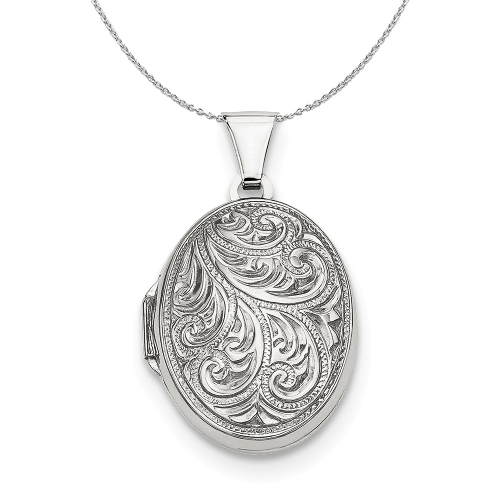 Reversible | Sterling | Necklace | Locket | Silver | Oval