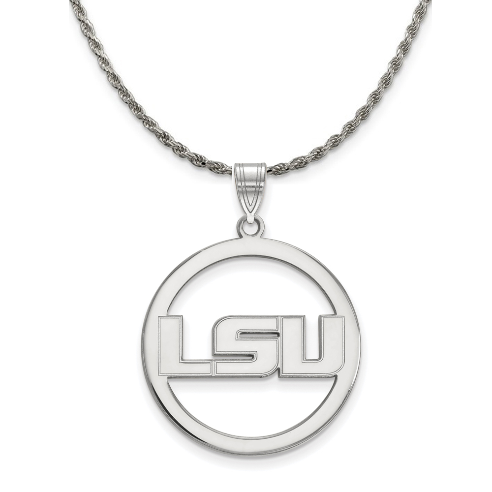 Louisiana | Sterling | Necklace | Pendant | Silver | State | NCAA