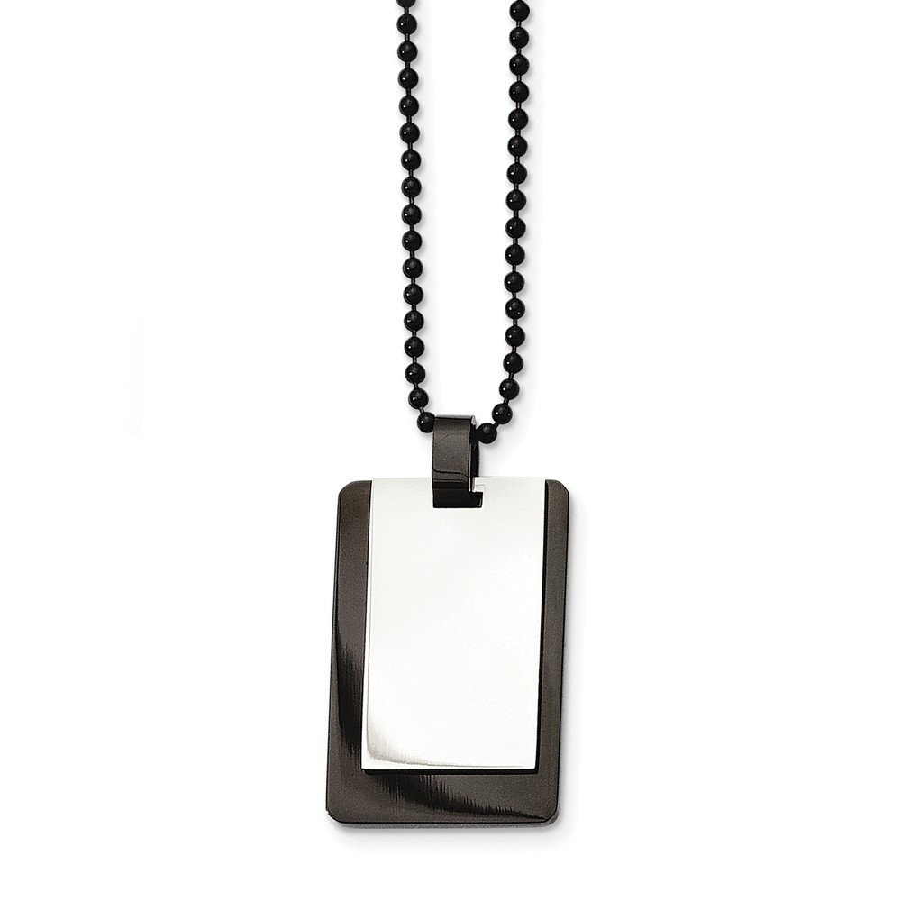 Stainless | Two-Tone | Necklace | Steel | Tag | Dog