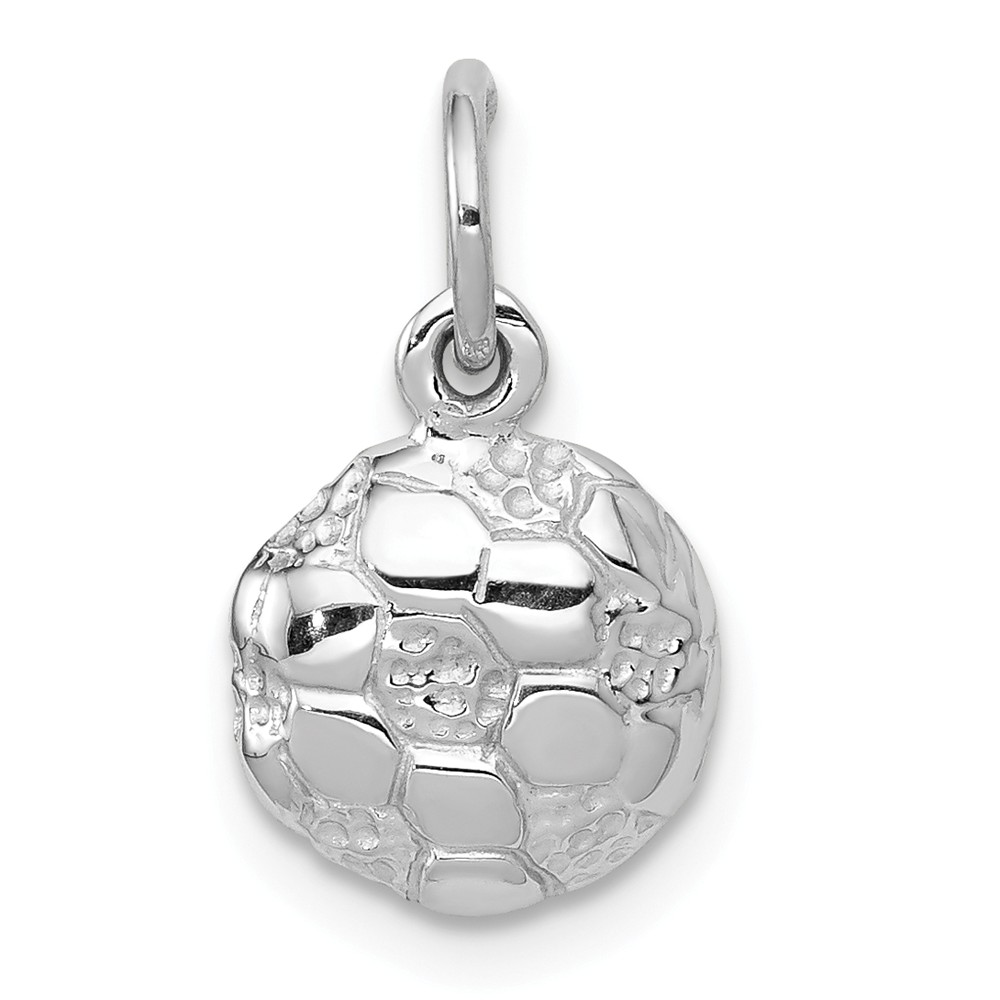 14k White Gold 9mm Soccer Ball Charm