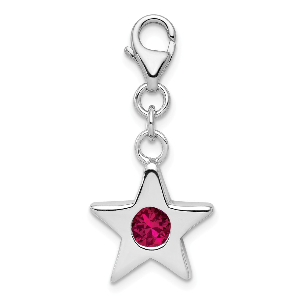 Birthstone | Sterling | Silver | Charm | July | Star