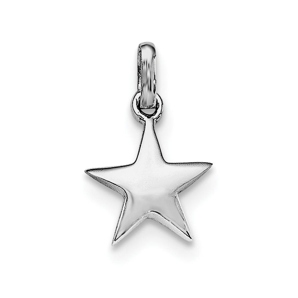 Sterling Silver 12mm Polished Star Pendant