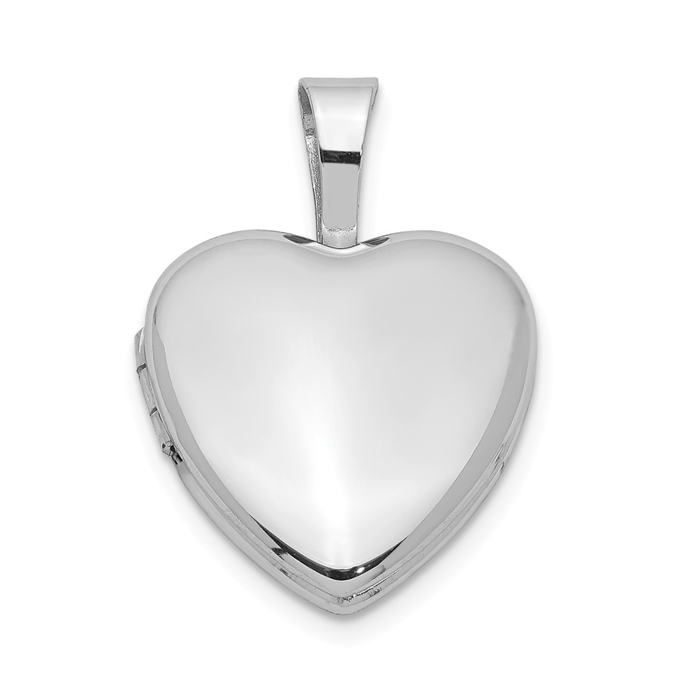 Sterling Silver 12mm Polished Heart Locket