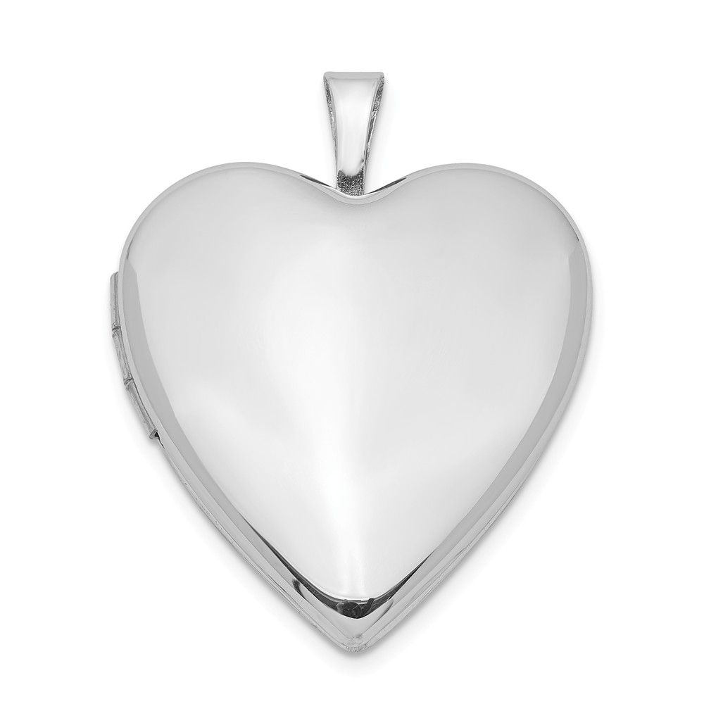 Sterling Silver 20mm Polished Heart Locket