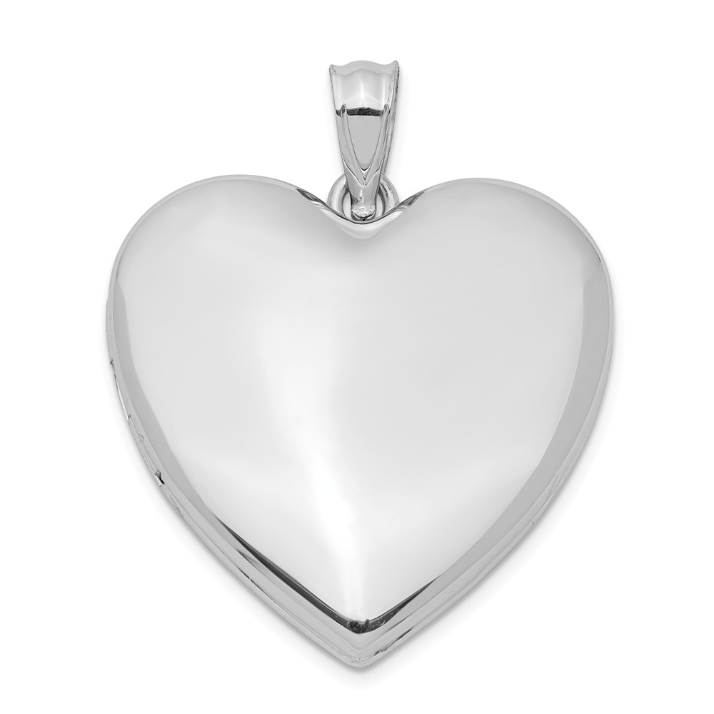 Sterling Silver 24mm Polished Heart Locket