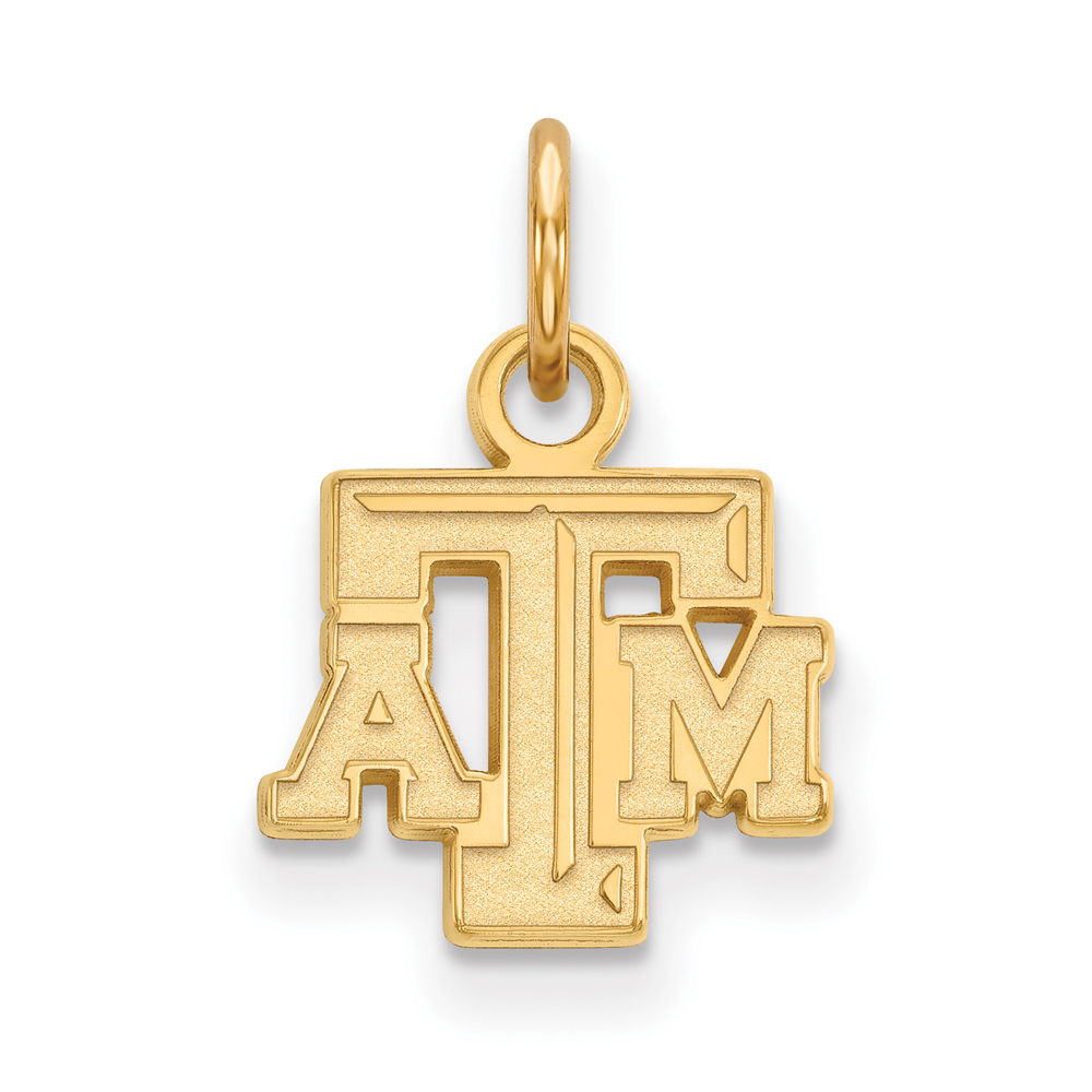 Ncaa 10k Yellow Gold Texas A&m U. Xs Pendant