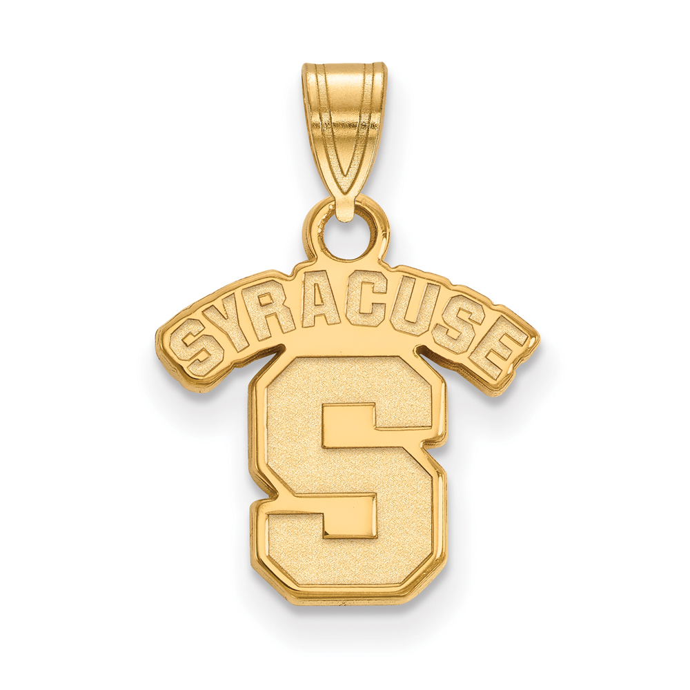 Ncaa 10k Yellow Gold Syracuse U. Small Pendant