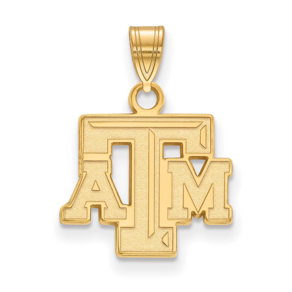 Ncaa 10k Yellow Gold Texas A&m U. Small Pendant