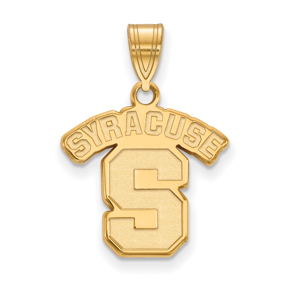 Ncaa 10k Yellow Gold Syracuse U. Medium Pendant