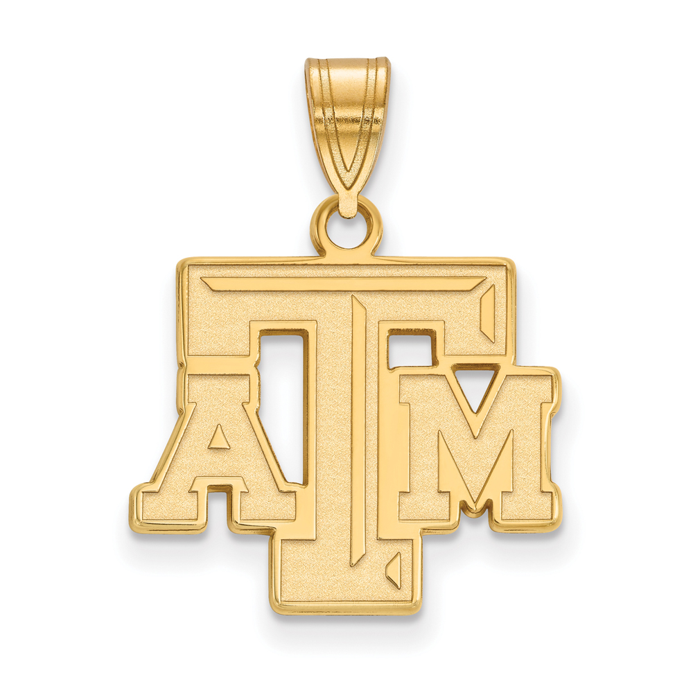 Ncaa 10k Yellow Gold Texas A&m U. Medium Pendant