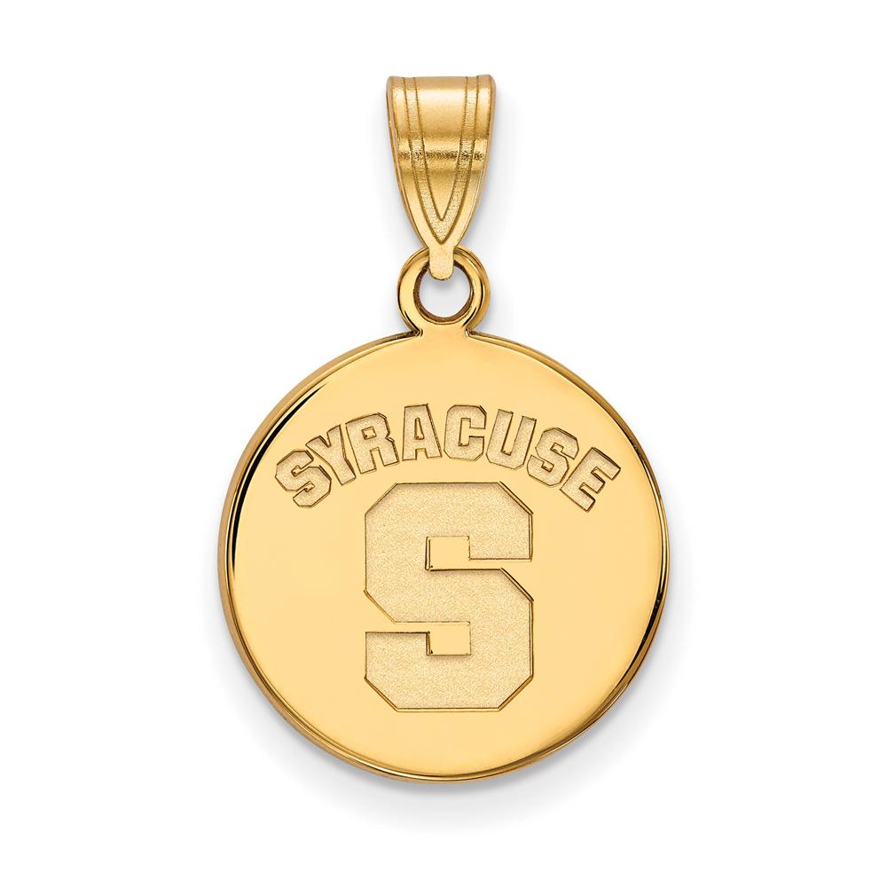 Ncaa 10k Yellow Gold Syracuse U. Medium Disc Pendant