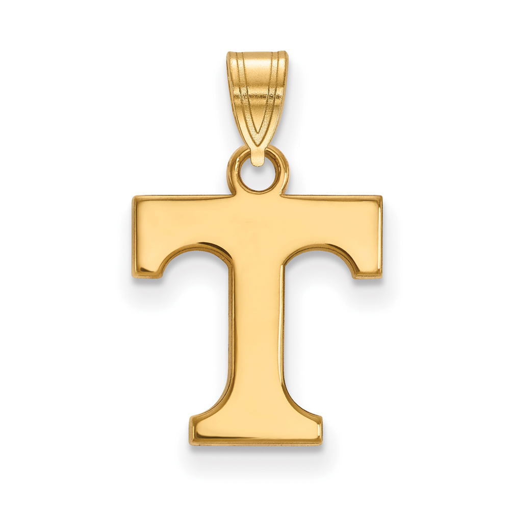 Tennessee   Pendant   Yellow   Small   NCAA   Gold