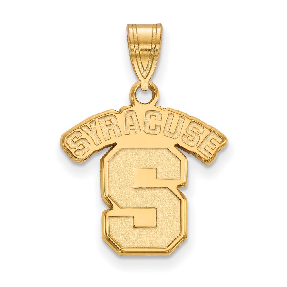 Ncaa 14k Yellow Gold Syracuse U. Medium Pendant