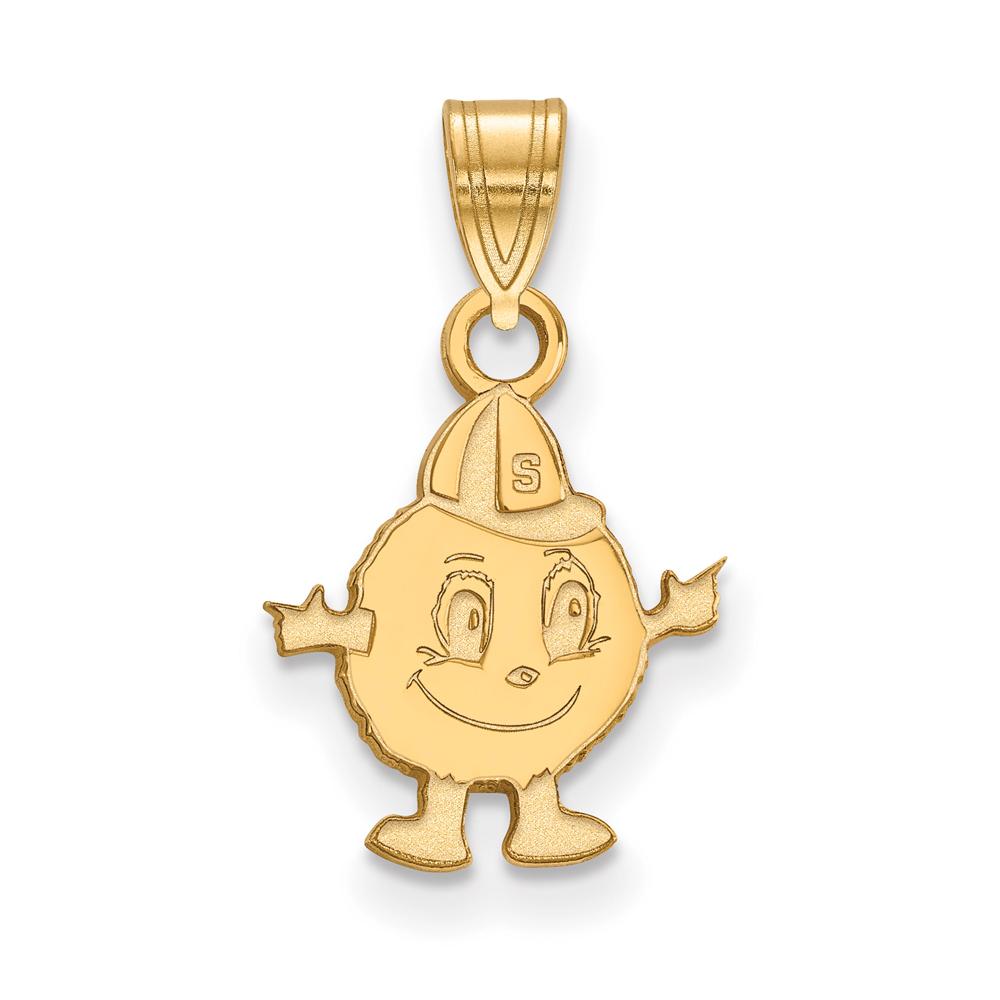 Ncaa 14k Yellow Gold Syracuse U. Small Pendant