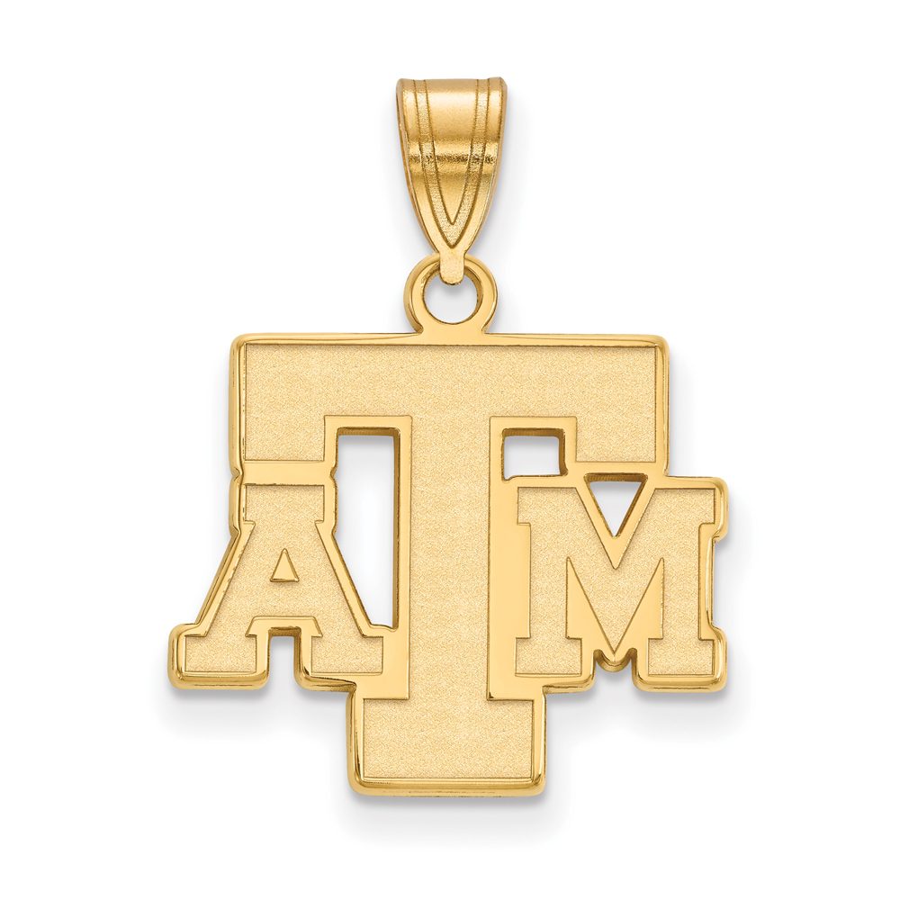 Ncaa 14k Yellow Gold Texas A&m U. Medium Pendant