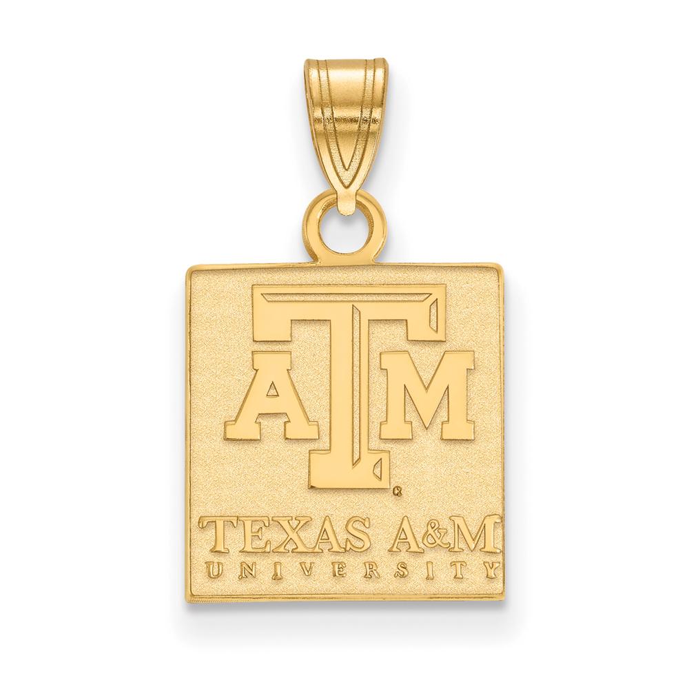 Ncaa 14k Yellow Gold Texas A&m U. Small Pendant
