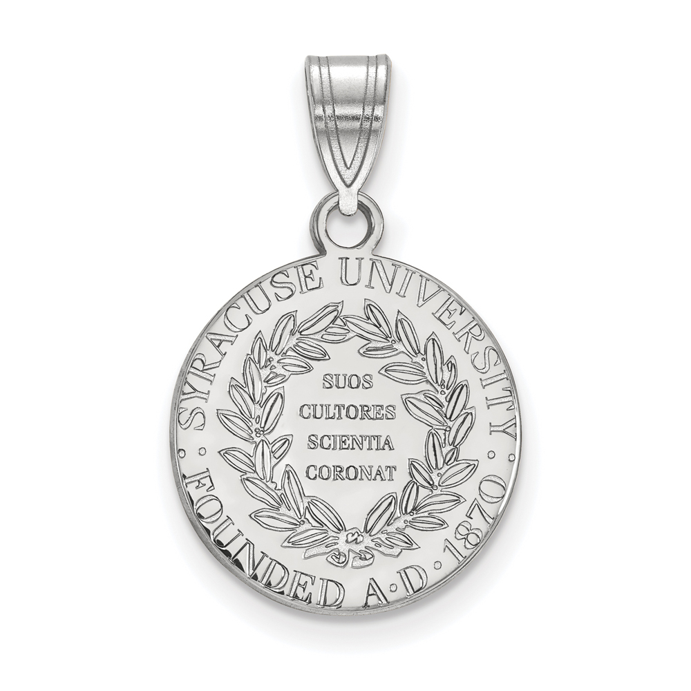 Ncaa Sterling Silver Syracuse U. Medium Crest Pendant