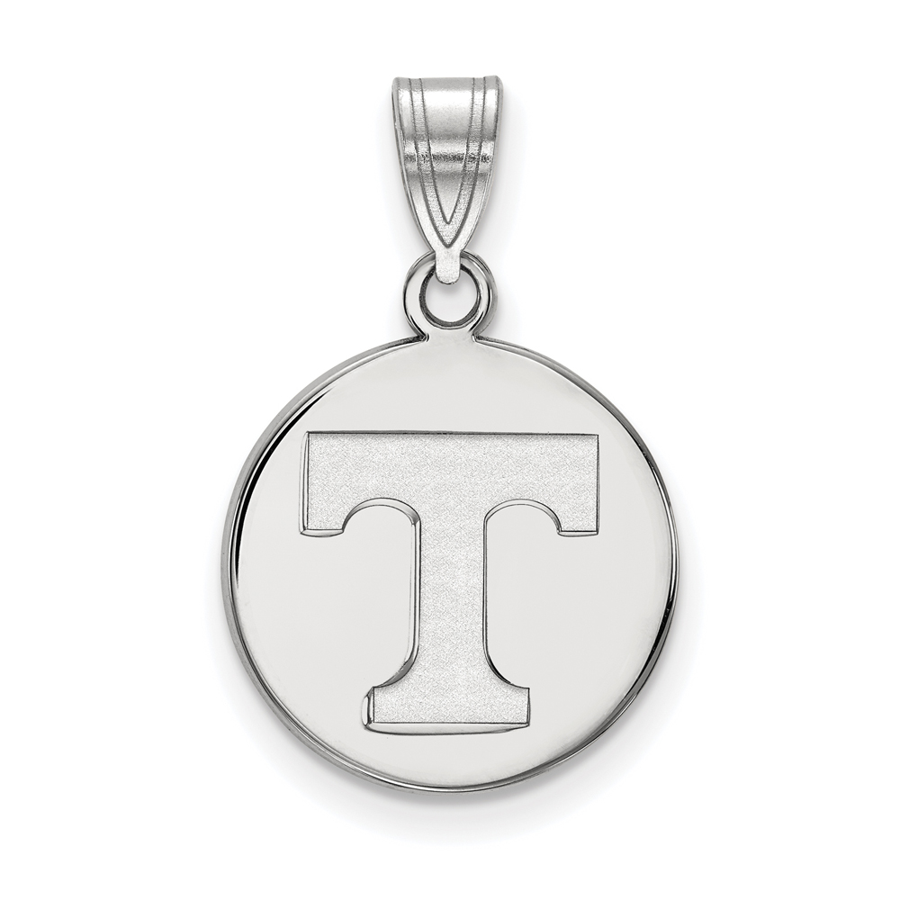 Tennessee | Sterling | Pendant | Medium | Silver | Disc | NCAA