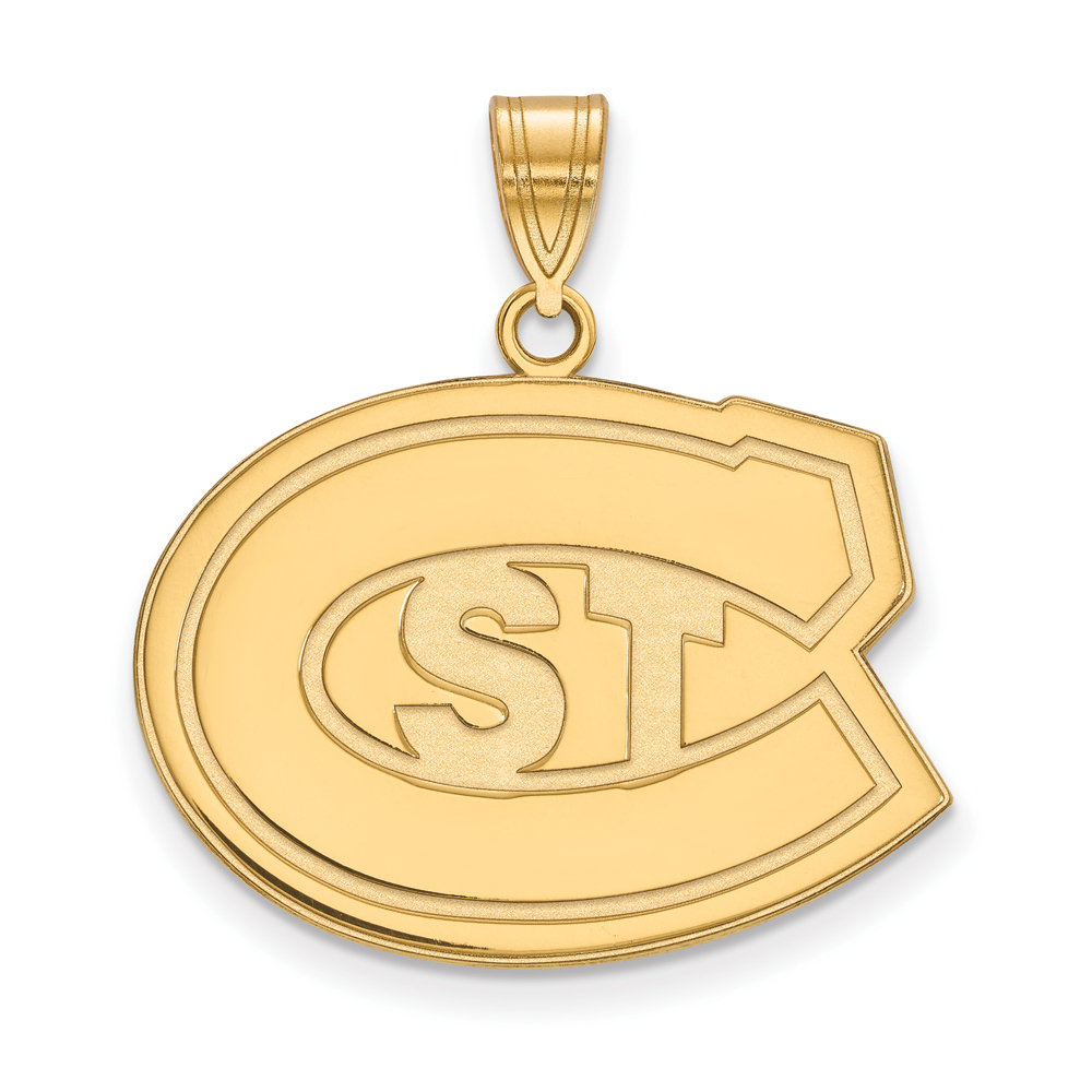 Ncaa 10k Yellow Gold St. Cloud State Large Pendant