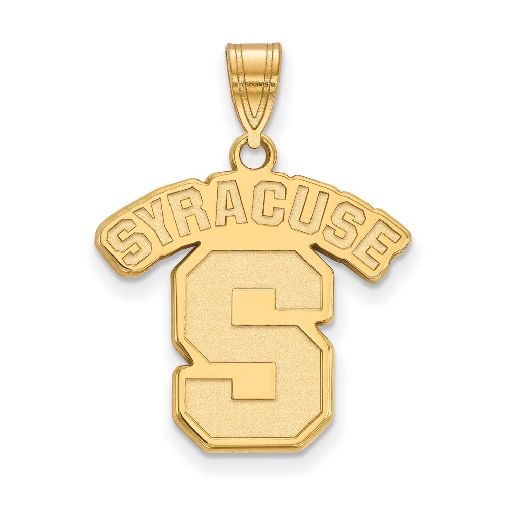 Ncaa 10k Yellow Gold Syracuse U. Large Pendant
