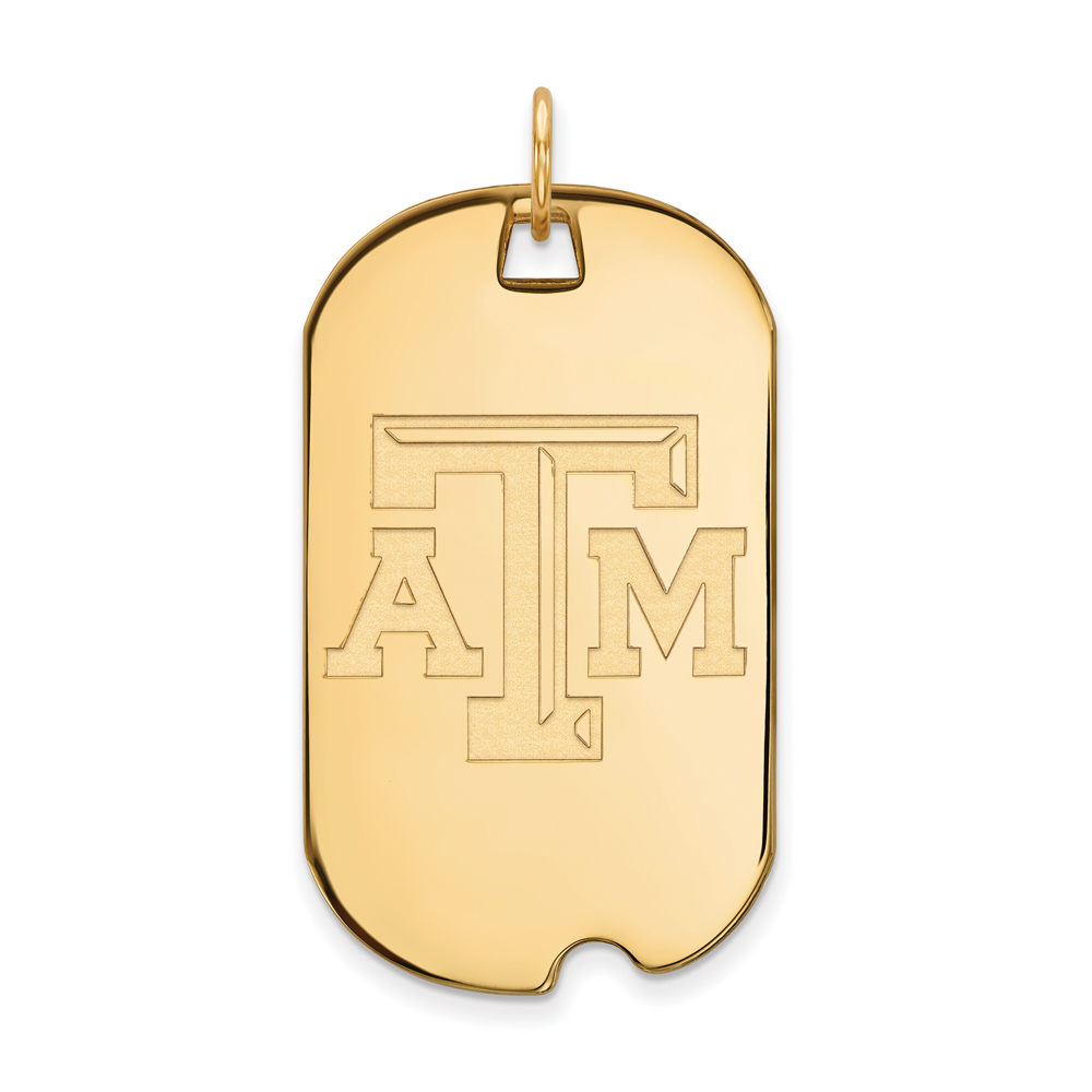 Pendant | Yellow | Texas | Large | NCAA | Gold | A&M | 10K | Tag | Dog
