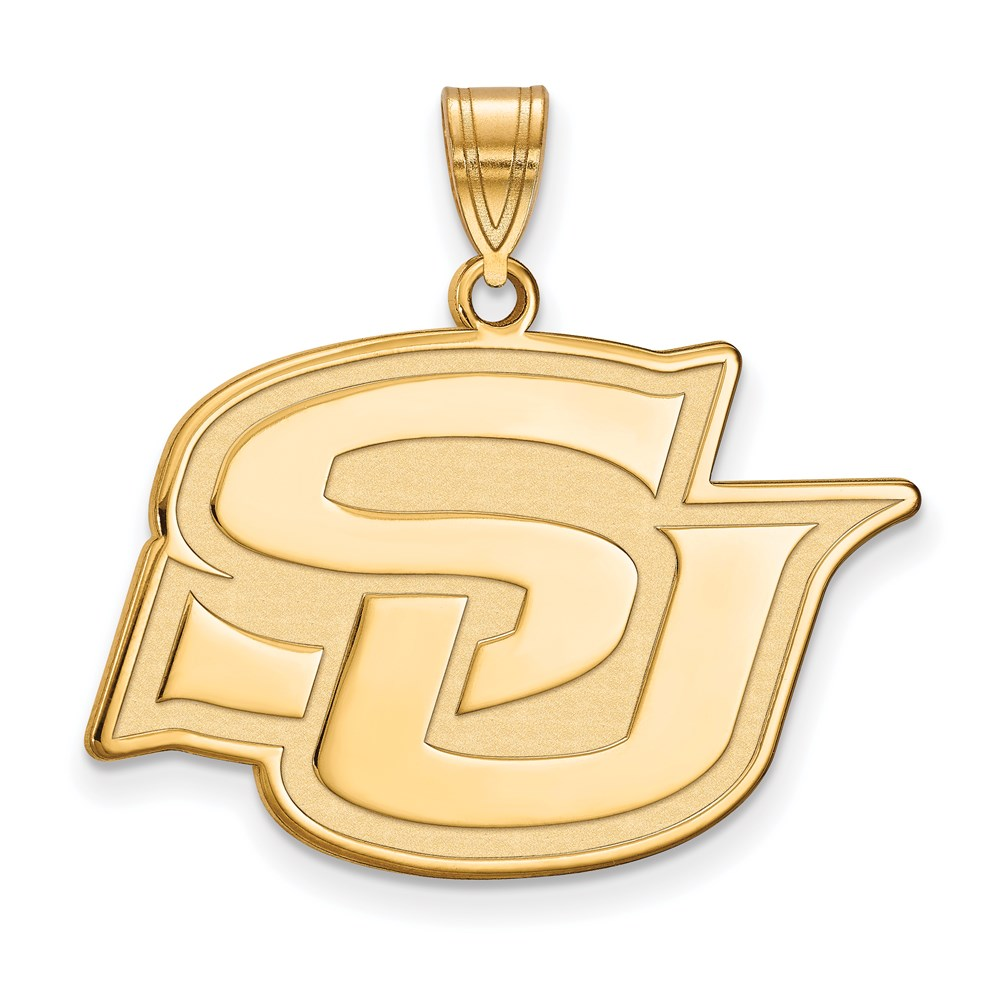 Ncaa 14k Gold Plated Silver Southern U. Large Pendant