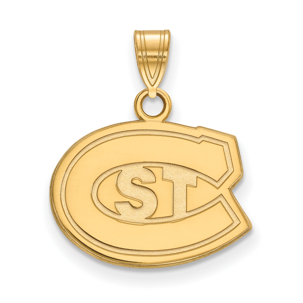 Ncaa 10k Yellow Gold St. Cloud State Small Pendant