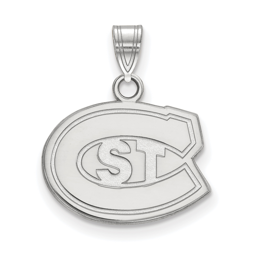 Ncaa 14k White Gold St. Cloud State Small Pendant