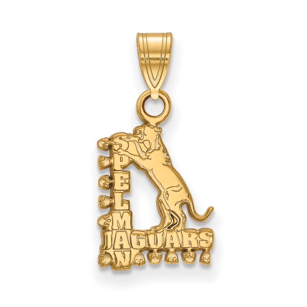 Ncaa 14k Gold Plated Silver Spelman College Small Pendant
