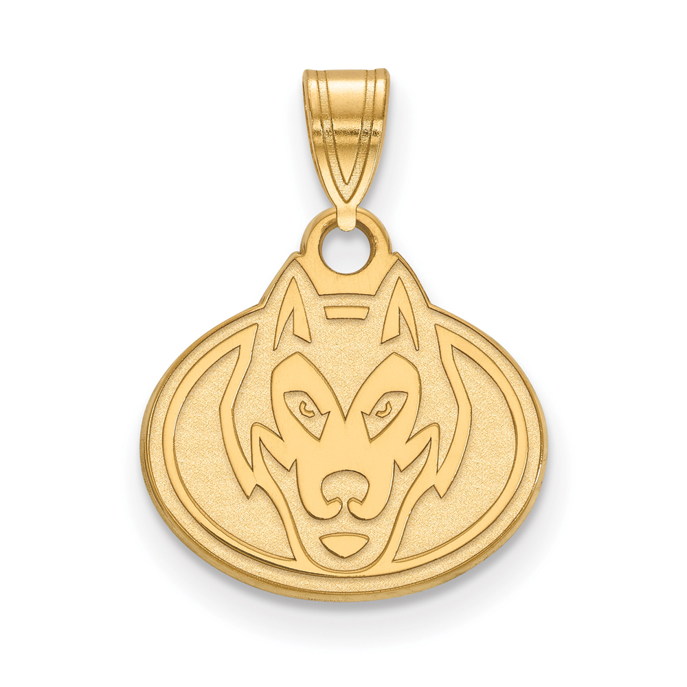 Ncaa 14k Gold Plated Silver St. Cloud State Small Pendant