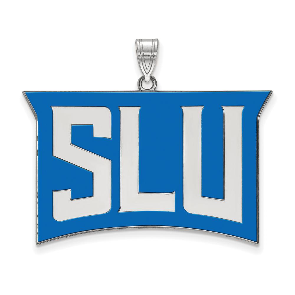 Ncaa Sterling Silver St. Louis U. Xl Enamel Pendant