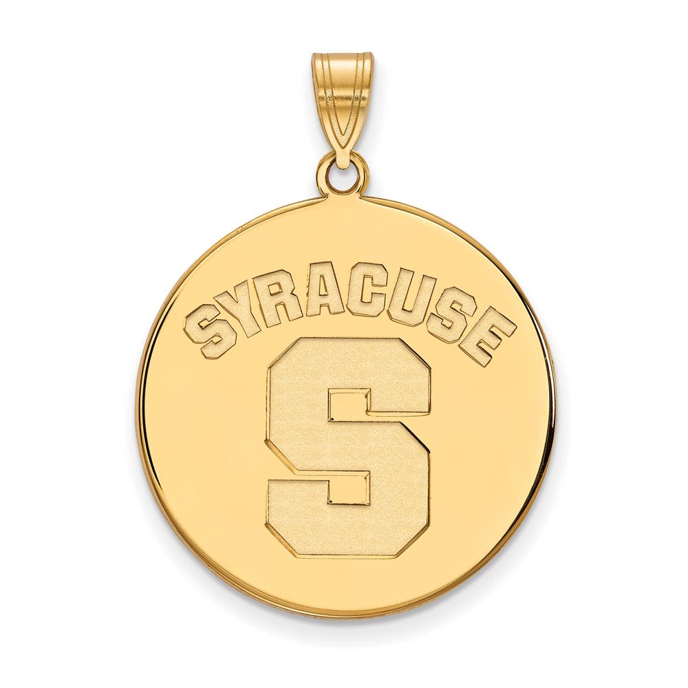 Ncaa 14k Yellow Gold Syracuse U. Xl Disc Pendant