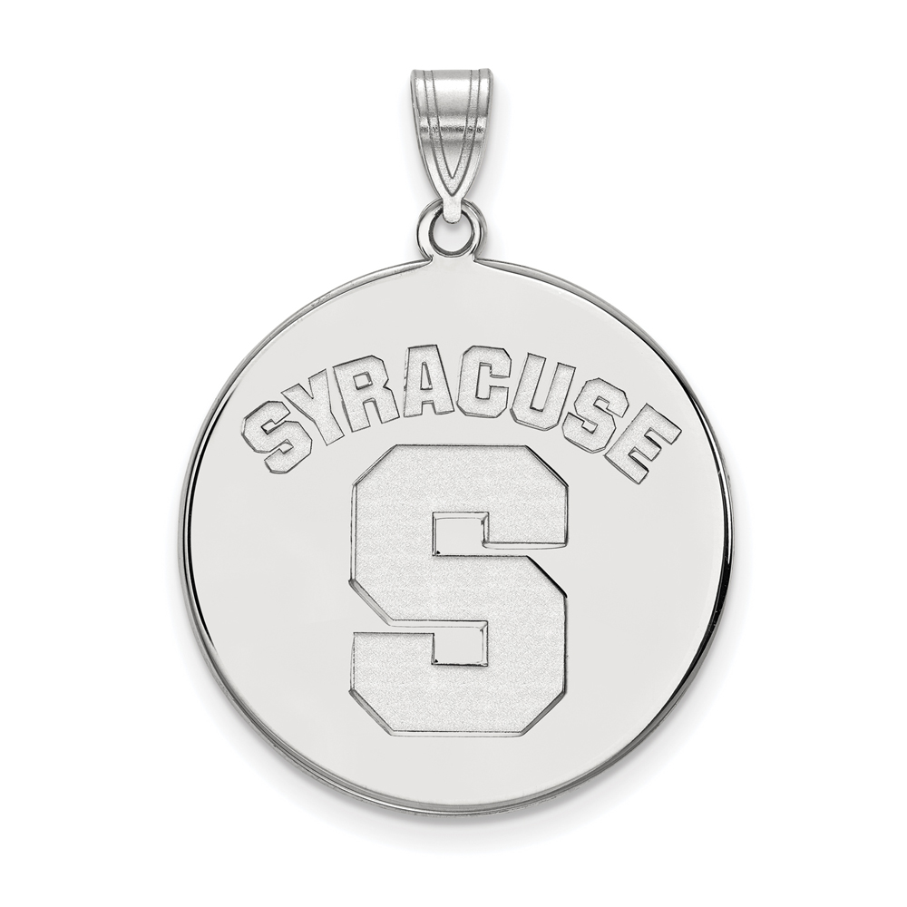 Ncaa Sterling Silver Syracuse U. Xl Disc Pendant