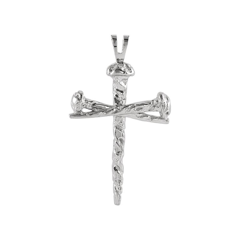 Pendant | Polish | Cross | White | Nail | Gold | Men