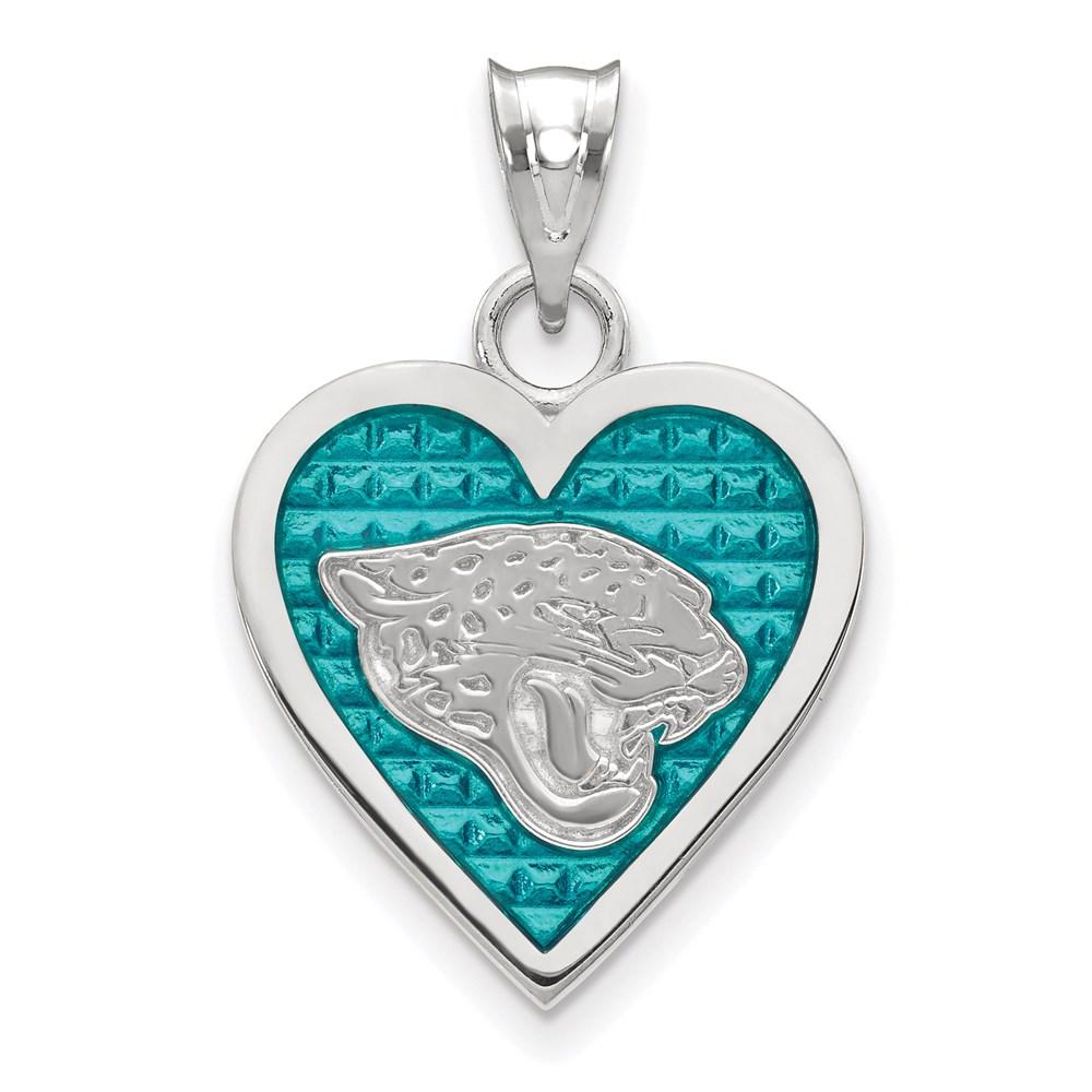Jacksonville | Sterling | Pendant | Jaguar | Silver | Heart | NFL