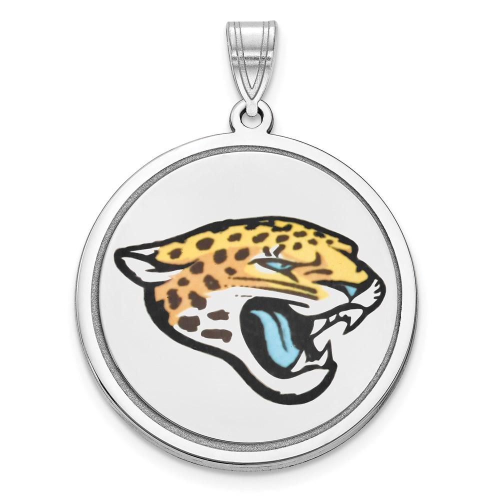 Jacksonville | Sterling | Picture | Pendant | Jaguar | Silver | Disc | Logo | NFL