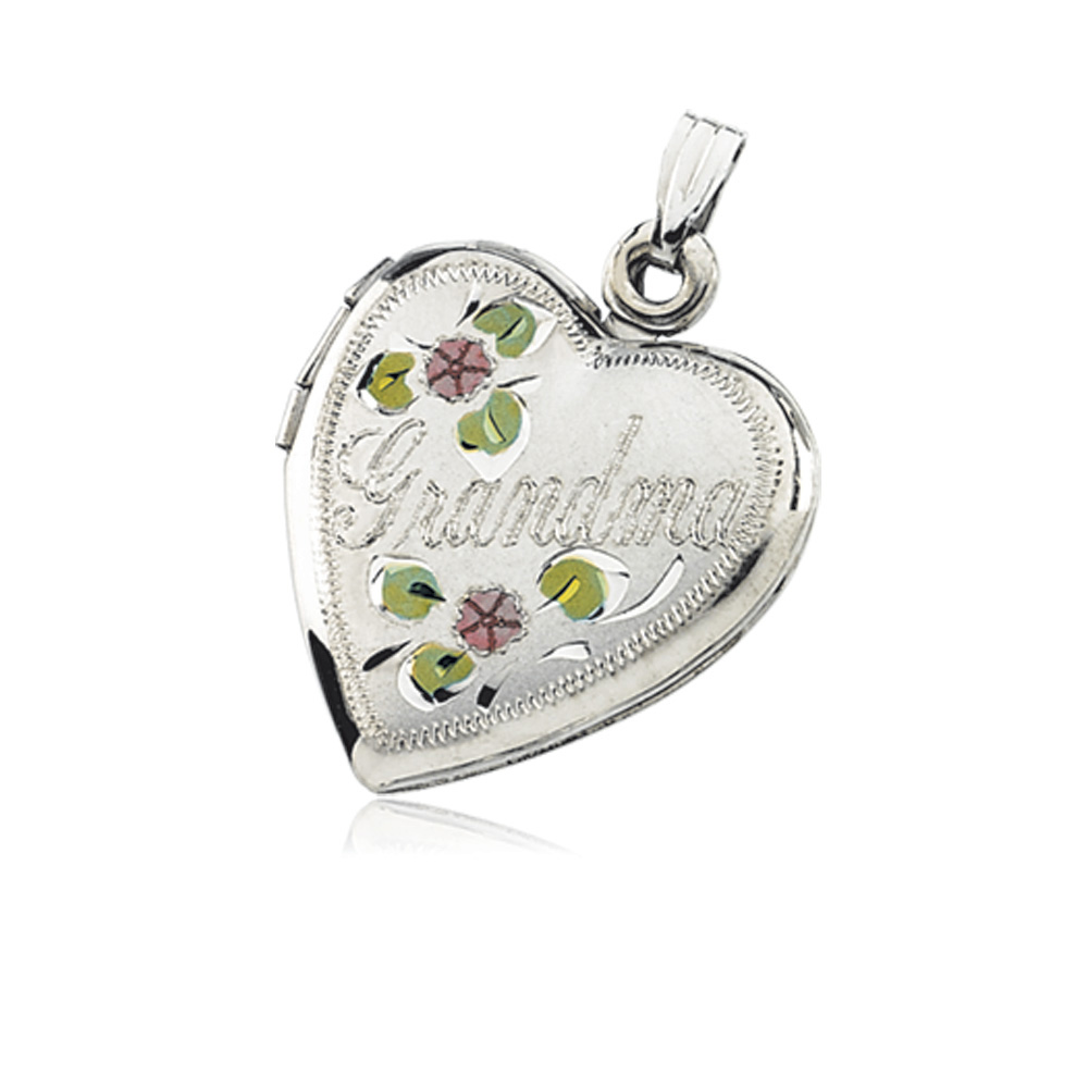 Sterling Silver Grandma Heart Locket