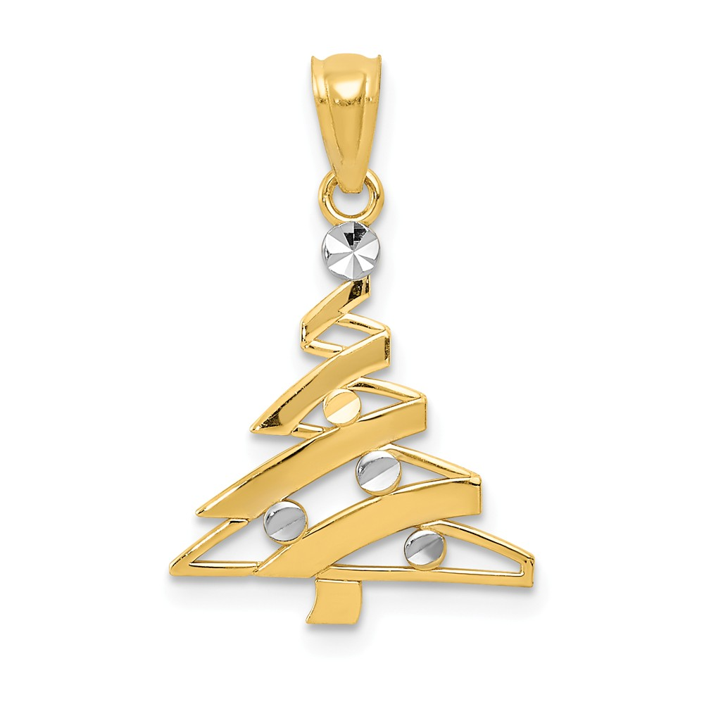14k Yellow Gold, Christmas Tree Pendant