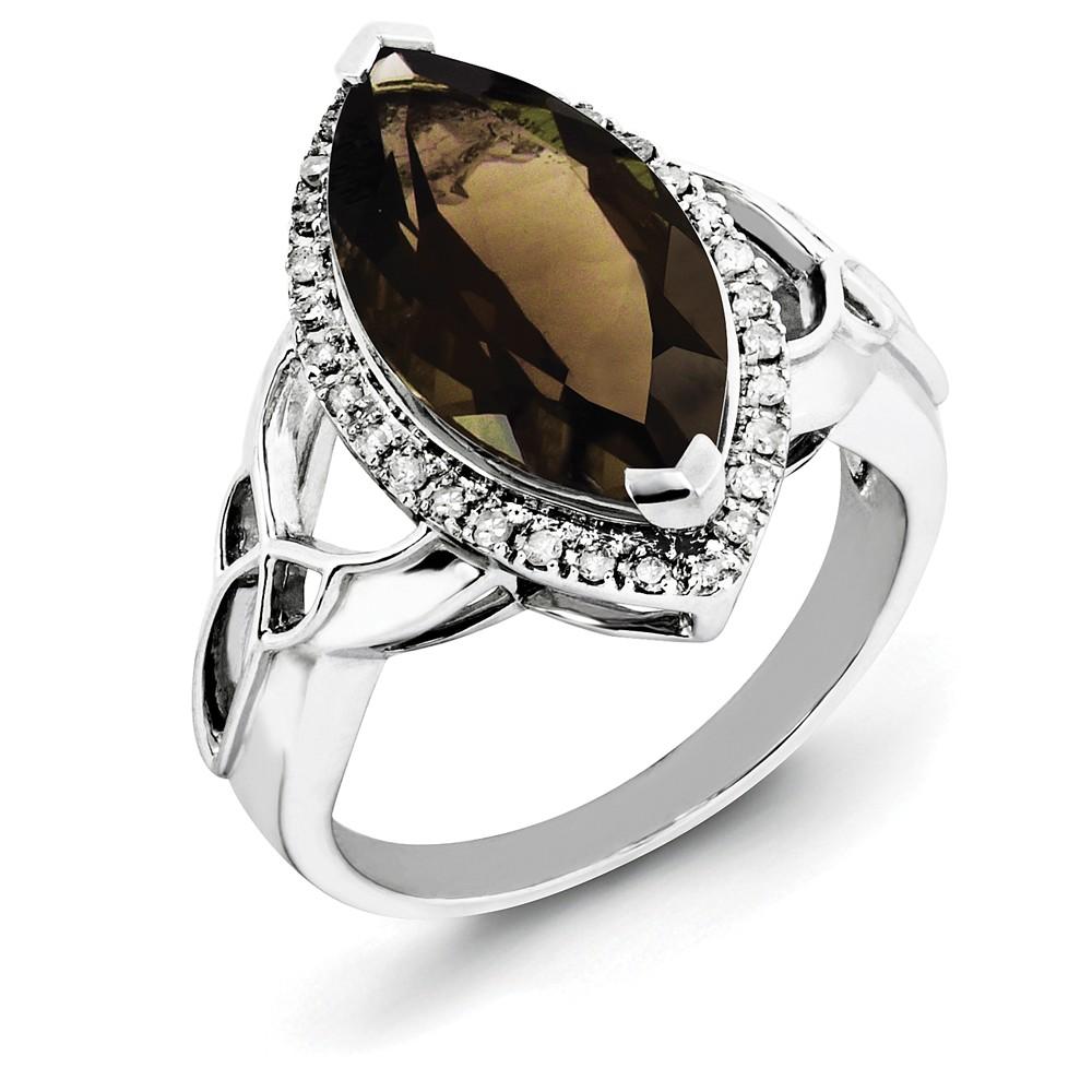Cocktail | Sterling | Diamond | Quartz | Silver | Ring