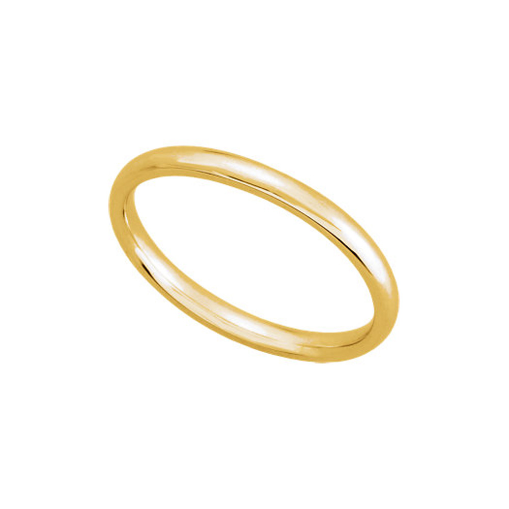 Wedding   Yellow   Light   Dome   Band   Gold   Size